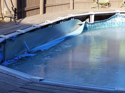 Winter Pool Damage