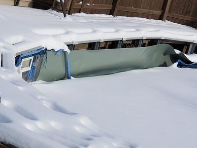 Snow on Pool