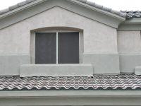 solar screens on house