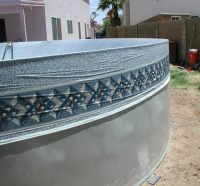 Oval Swimming Pool Liner Installation