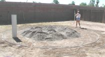 sand in above ground pool