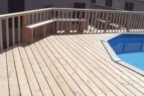 wood above ground pool deck