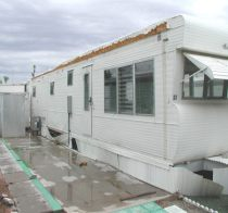 mobile home anchored