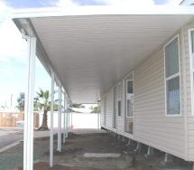 aluminum awning on mobile home