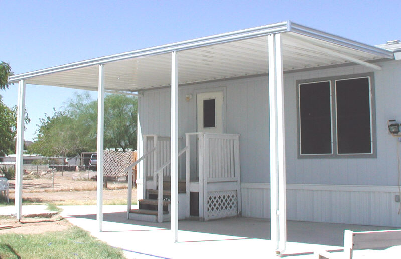 awning with square posts