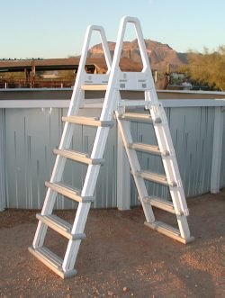 Above ground pool ladders for Pool ladder