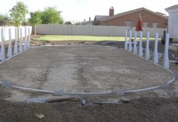 connecting bottom rails and level pool frame
