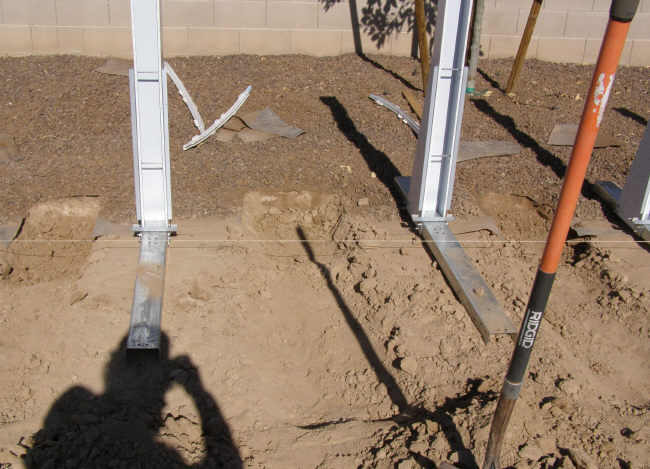 trenches for oval pool braces
