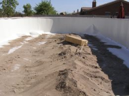 sand in an above ground pool