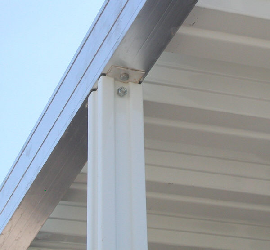 Aluminum awning post