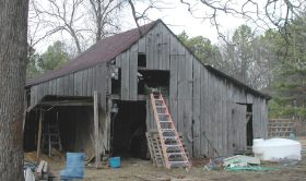 old barn front