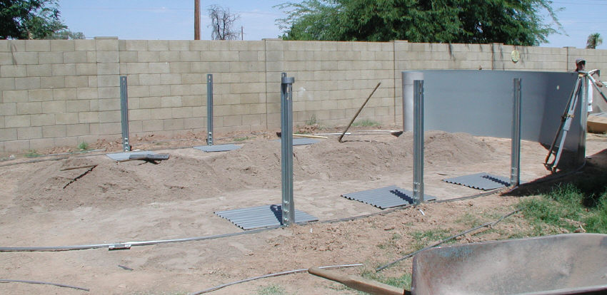 Oval Pool Wall Assembly