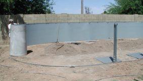 Installing Pool Retaining Rods