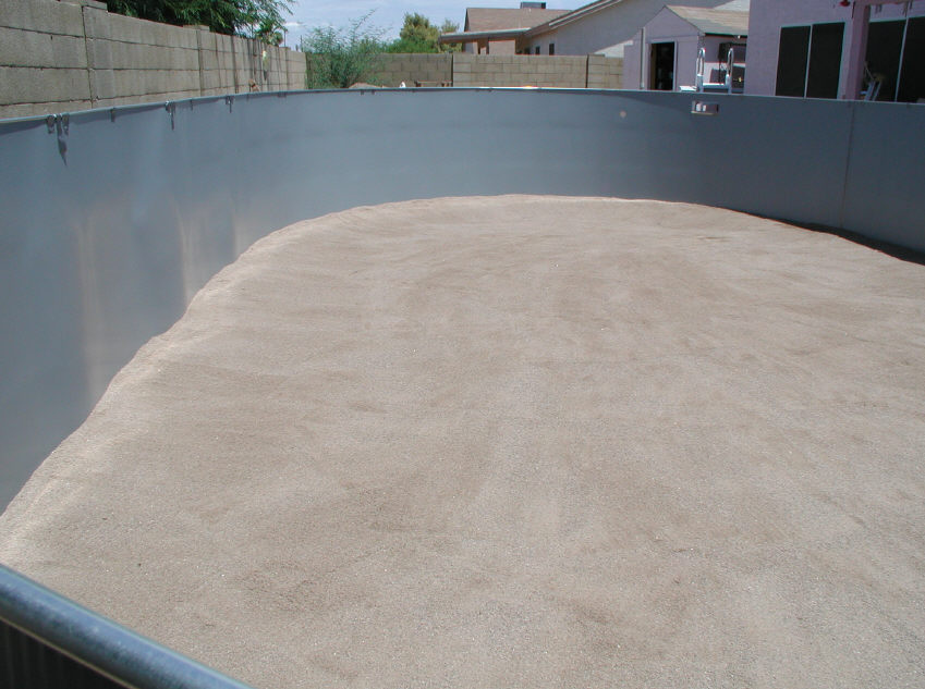 Oval Above Ground Pool Sand