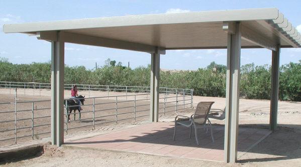 aluminum patio cover - freestanding