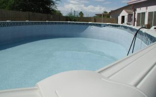 Oval Pool Assembly Finished