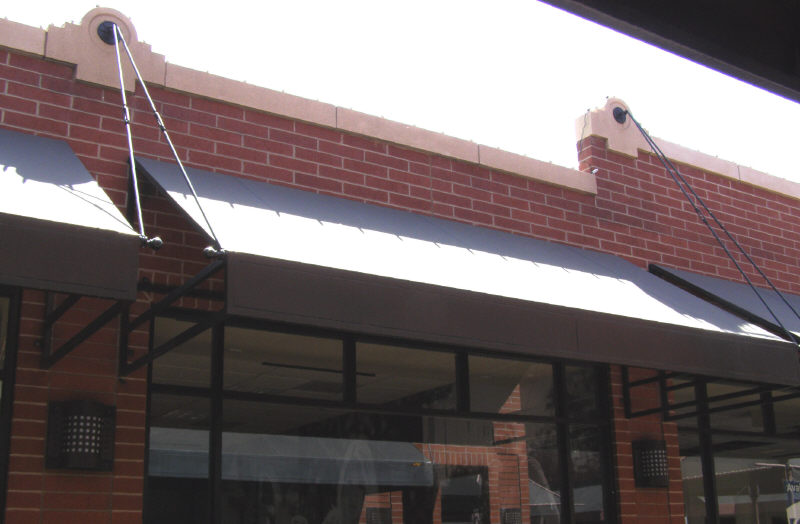 Short Rods Supporting Window Awning
