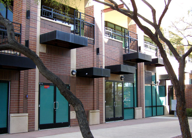 Square Steel Awnings at Different Levels