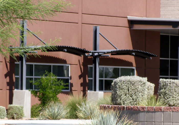 Arched Steel Awnings