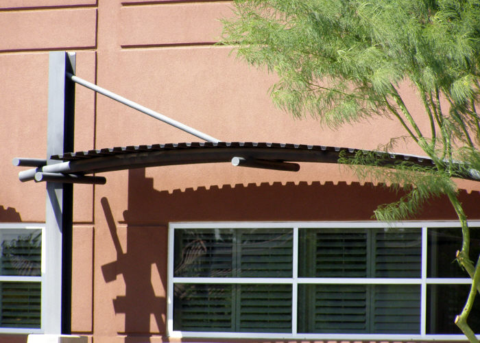 Arched Steel Commercial Awning