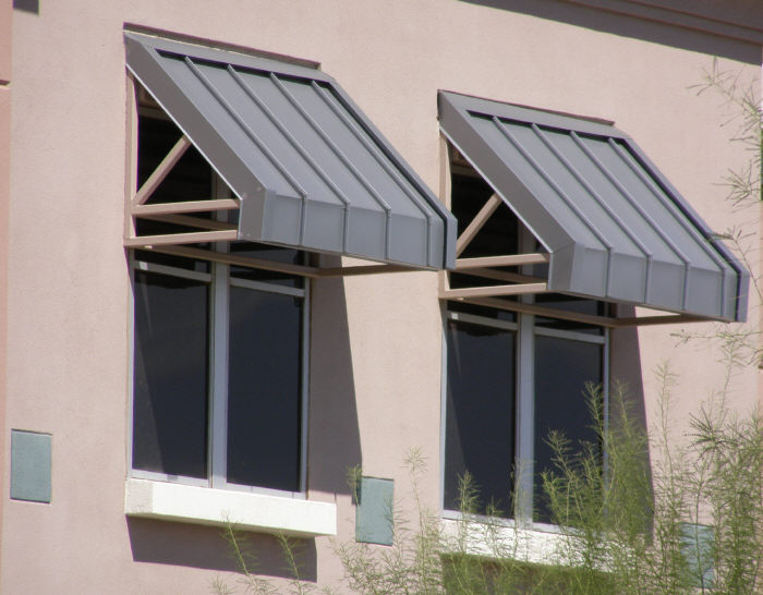 Steel Top Supported Window Awnings