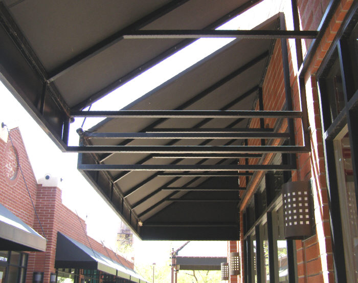 Under View Of Framework For Steel Awning
