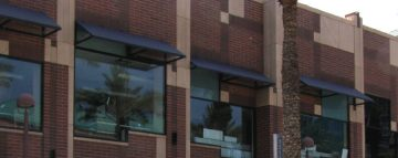 Series of Steel Commercial Window Awnings
