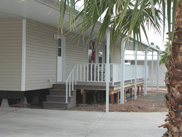 aluminum awning and deck