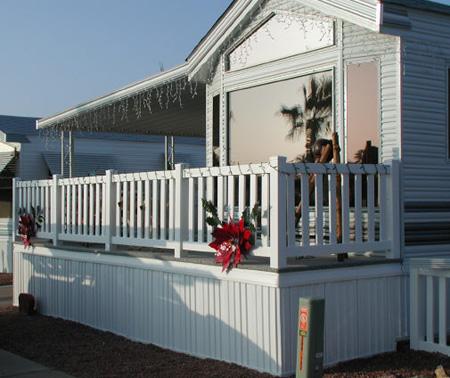park model deck skirting