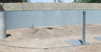 oval above ground pool installation