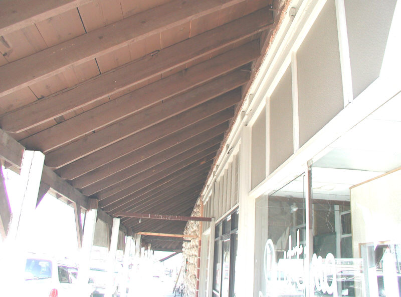 Old Wood Awning Underside