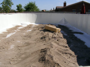 sand for above ground pool base