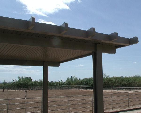 freestanding Alumawood awning