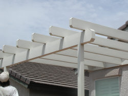 Lattice awning