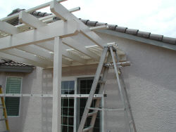 Lattice being installed