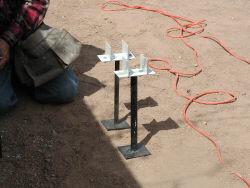 Alumawood Ground anchors