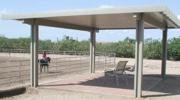 aluminum patio cover - freestanding