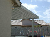 awning on house