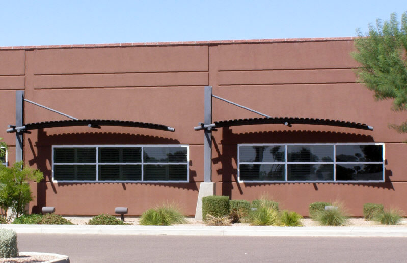 Steel Arched Window Awnings