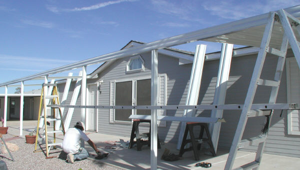 aluminum awning assembly
