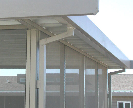 Aluminum awning set back bar