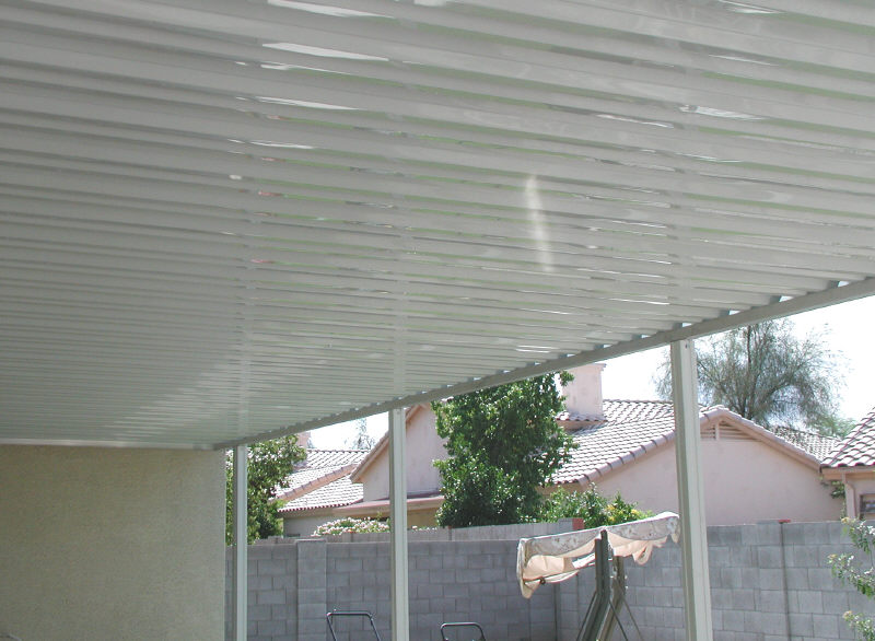 aluminum awning on house