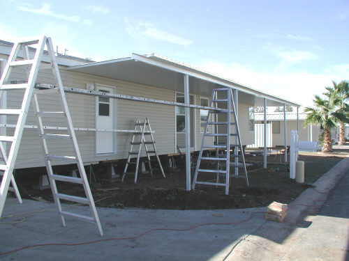 aluminum awning construction