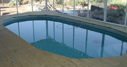 beaded liner in above ground pool