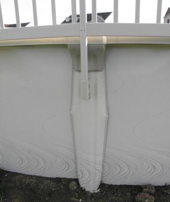 Pool Upright Damaged