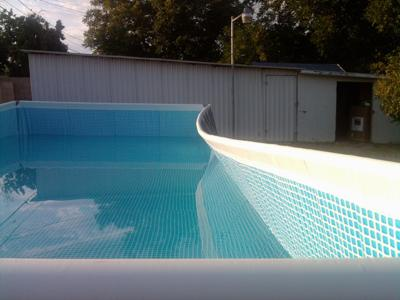 Intex Pool Bowing Side