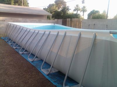 Side of Intex Pool
