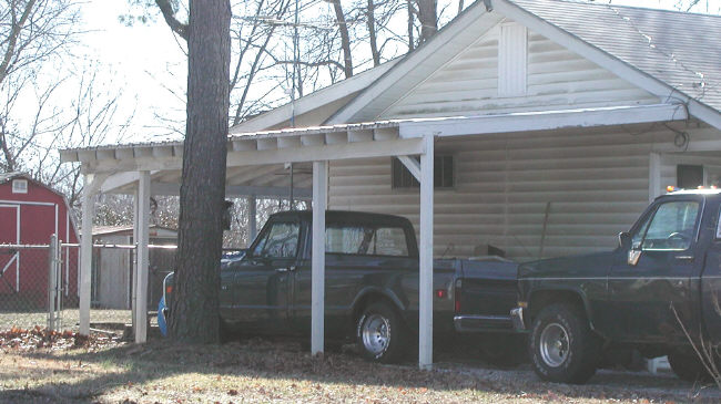 wood carport cover