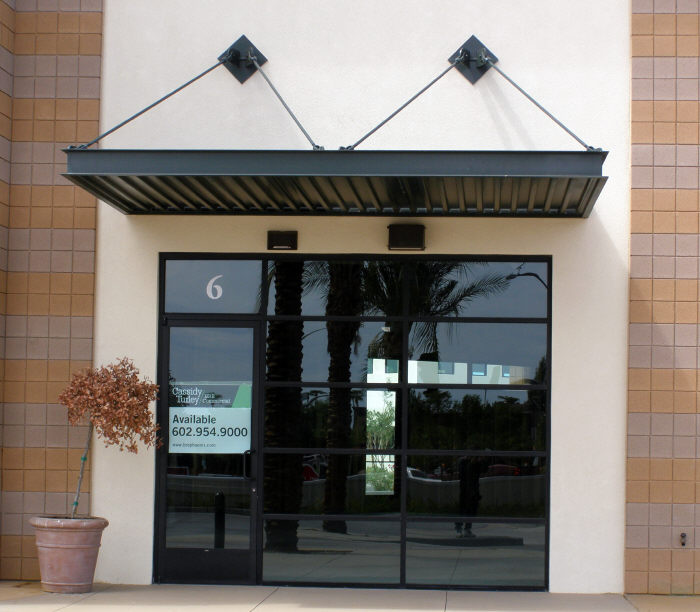 Black Commercial Door Canopy & Commercial Awning
