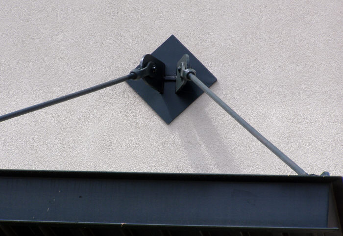 Steel Overhead Awning Bracket